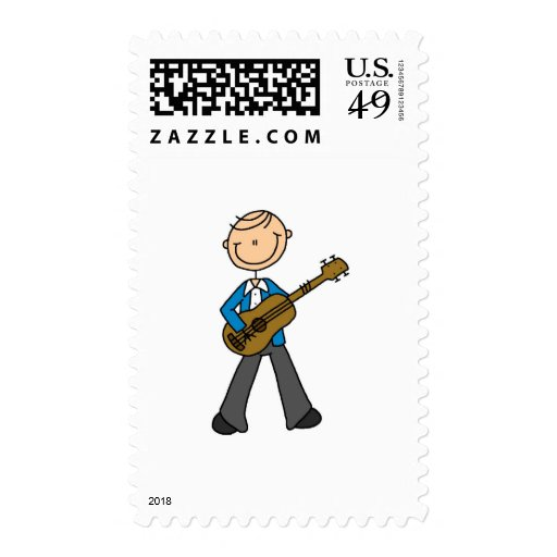 Stick Figure Guitar Player Tshirts and Gifts Stamp