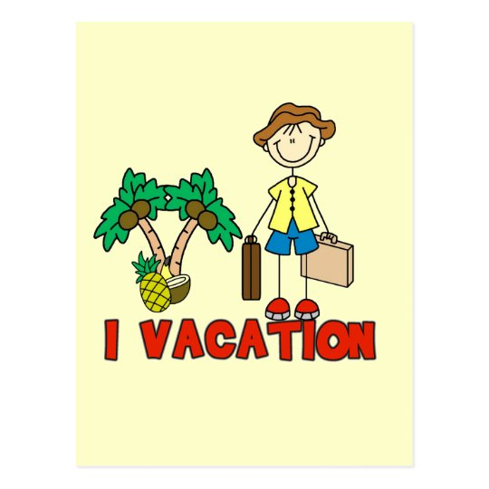 Stick Figure Guy Vacationing Tshirts and Gifts Postcard