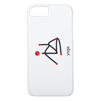 Stick figure-half lord of the fishes & yoga text. iPhone 8/7 case