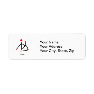 Stick figure-half lord of the fishes & yoga text. label