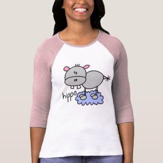 Stick Figure Hippo T-Shirt