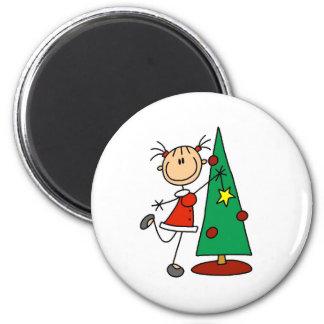 Stick Figure Holiday  Tree Magnets