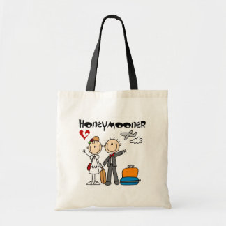 Stick Figure Honeymooner T-shirts and Gifts Budget Tote Bag