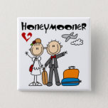 Stick Figure Honeymooner T-shirts and Gifts Pinback Button