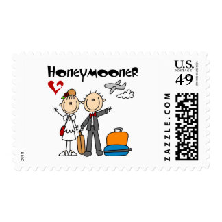 Stick Figure Honeymooner T-shirts and Gifts Postage Stamp