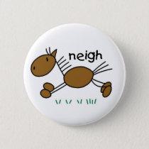 Stick Figure Horse Button