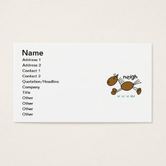 Stick Figure Horse T-shirts and Gifts Business Card