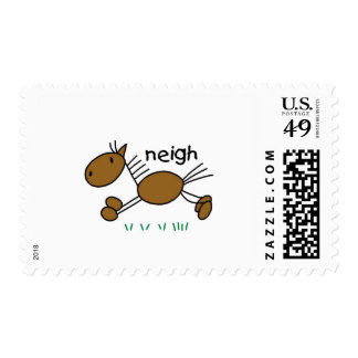 Stick Figure Horse Tshirts and Gifts Postage Stamps