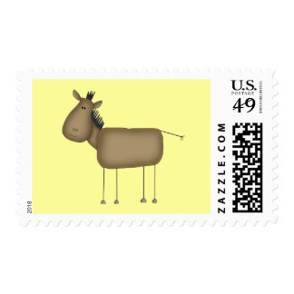 Stick Figure Horse Tshirts and Gifts Postage Stamp
