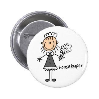 Stick Figure Housekeeper Button