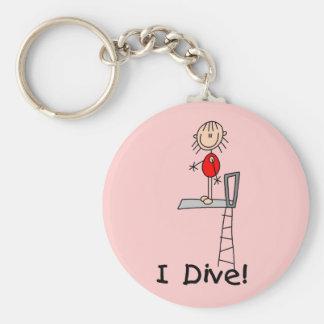 Stick Figure I Dive Tshirts and Gifts Keychain