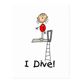 Stick Figure I Dive Tshirts and Gifts Postcard