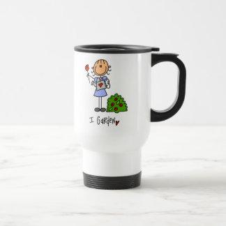 Stick Figure I Garden Gardening Travel Mug/Cup Travel Mug