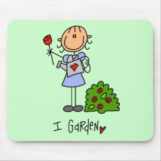 Stick  Figure I Garden T-shirts and Gifts Mouse Pad
