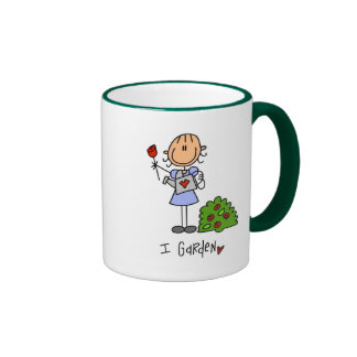 Stick  Figure I Garden T-shirts and Gifts Ringer Coffee Mug