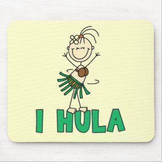 Stick Figure I Hula T-shirts and Gifts Mouse Pad
