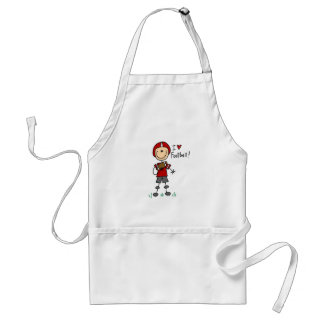 Stick Figure I Love Football T-shirts and Gifts Adult Apron