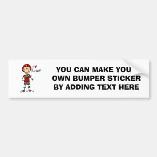 Stick Figure I Love Football T-shirts and Gifts Bumper Sticker