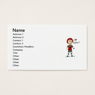 Stick Figure I Love Football T-shirts and Gifts Business Card