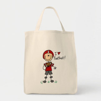 Stick Figure I Love Football T-shirts and Gifts Tote Bag