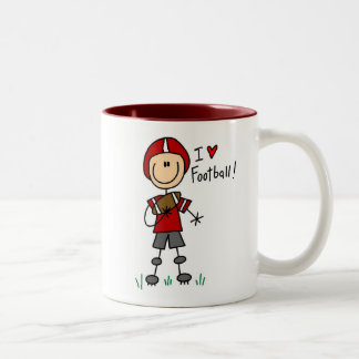 Stick Figure I Love Football T-shirts and Gifts Two-Tone Coffee Mug