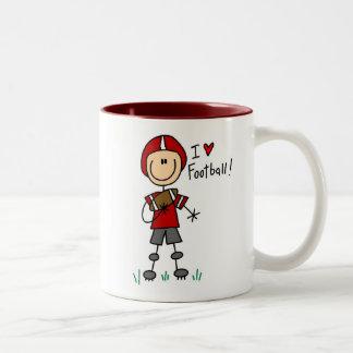 Stick Figure I Love Football T-shirts and Gifts Two-Tone Coffee Mug