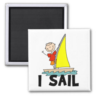 Stick Figure I Sail T-shirts and gifts Magnets