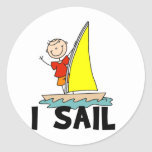 Stick Figure I Sail T-shirts and gifts Stickers