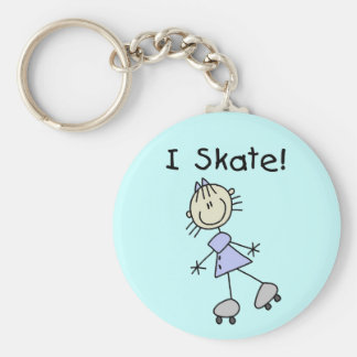 Stick Figure I Skate Tshirts and Gifts Keychain