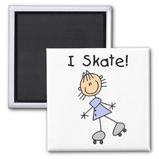 Stick Figure I Skate Tshirts and Gifts Magnet