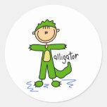 Stick Figure In Alligator Suit Sticker