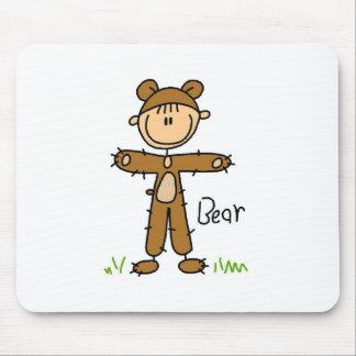 Stick Figure In Bear Suit Mousepad