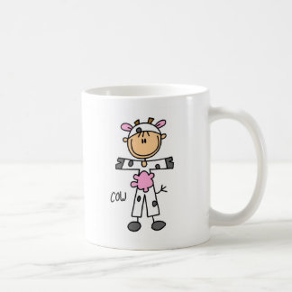 Stick Figure In Cow Suit Mug