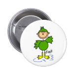 Stick Figure In Duck Suit Button