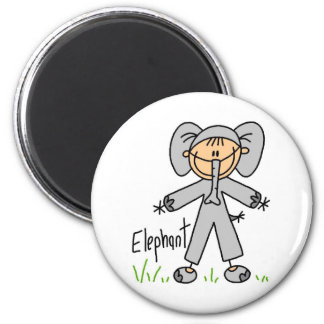 Stick Figure In Elephant Suit Magnet