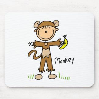 Stick Figure In Monkey Suit Mousepad