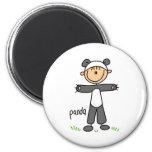 Stick Figure In Panda Suit Magnet Fridge Magnets