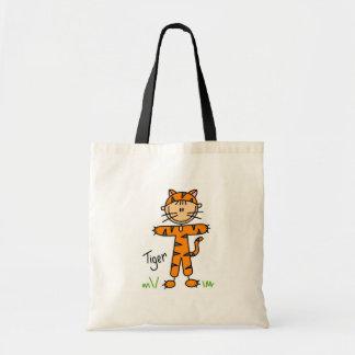 Stick Figure In Tiger Suit Bag