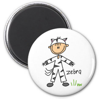 Stick Figure In Zebra Suit Magnet
