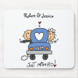 Stick Figure Just Married Mouse Pad