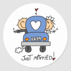 Stick Figure Just Married Stickers
