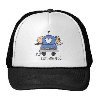Stick Figure Just Married Trucker Hat
