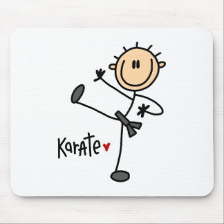 Stick Figure Karate Mousepad