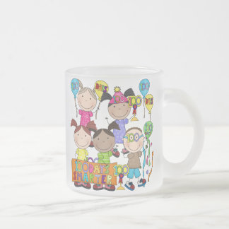 Stick Figure Kids 100 Days Smarter Frosted Glass Coffee Mug
