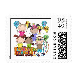 Stick Figure Kids 100 Days Smarter Postage