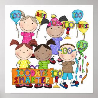Stick Figure Kids 100 Days Smarter Poster