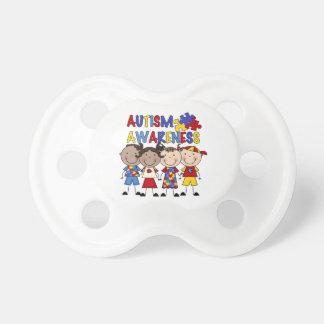 Stick Figure Kids Autism Awareness BooginHead Pacifier
