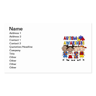 Stick Figure Kids Autism Awareness Double-Sided Standard Business Cards (Pack Of 100)