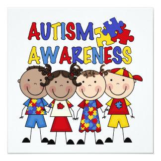 Stick Figure Kids Autism Awareness Card