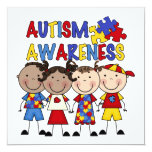 Stick Figure Kids Autism Awareness Personalized Invite